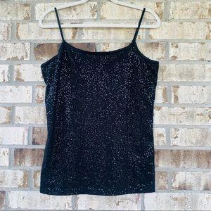 Ann Taylor black top size L